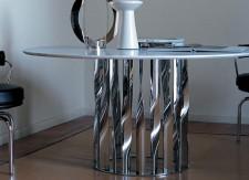 Table ronde Boboli et fauteuils LC7 - cassina