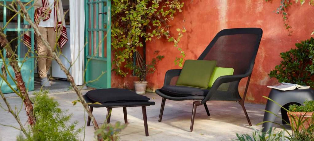 Fauteuil Slow Chair et Ottoman - Elephant Stool - Vitra