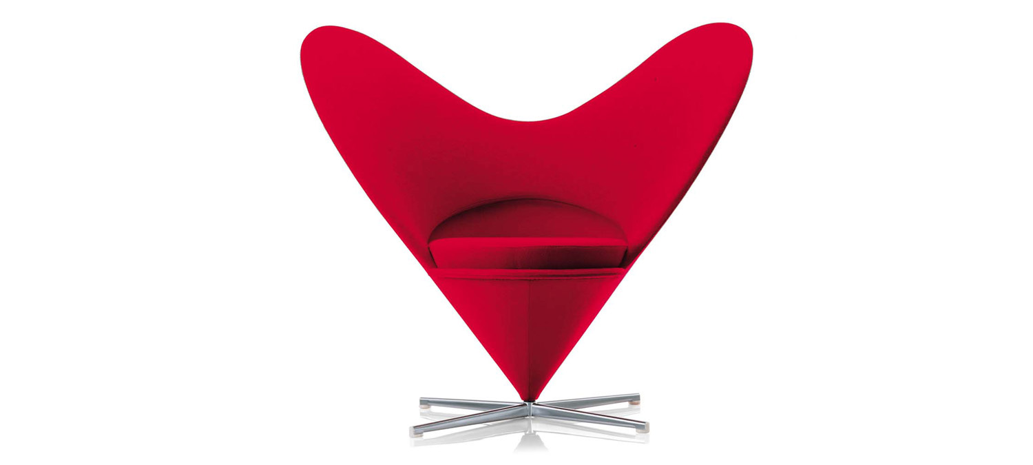 Panton Chair Heart Cone Chair Verner Panton