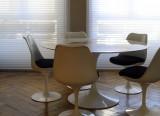 Projet d'aménagement Loire - Projet Salle à manger Saint Etienne - Table Tulipe Knoll - Chaise Tulipe Knoll - Bahut Riflesso Cassina - Lampe Max Ingran Fontana Arte - Projet d'aménagement 42 000 - LVC Design