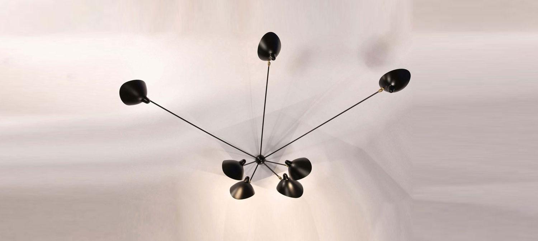 plafonnier araign e 7 bras lvc designlvc design. Black Bedroom Furniture Sets. Home Design Ideas