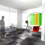 Salle de réunion, projet.