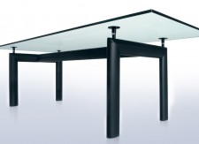 Table LC6 – Base noire et verre – Cassina
