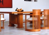 Table Allen et chaises Barrel - Cassina