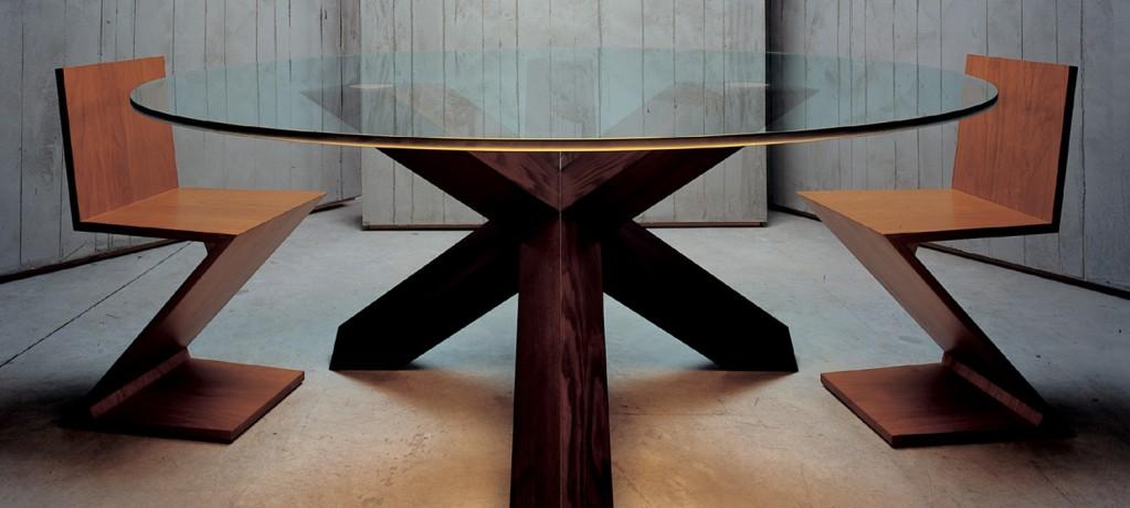 Table Rotonda - Chaises ZigZag - Cassina