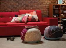 Polder Sofa rouge et Bovist - Vitra