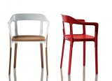 Steelwood Chair - Chaise en bois et métal - Steelwood design Ronan & Erwan Bouroullec - 2008 - Magis - LVC Design