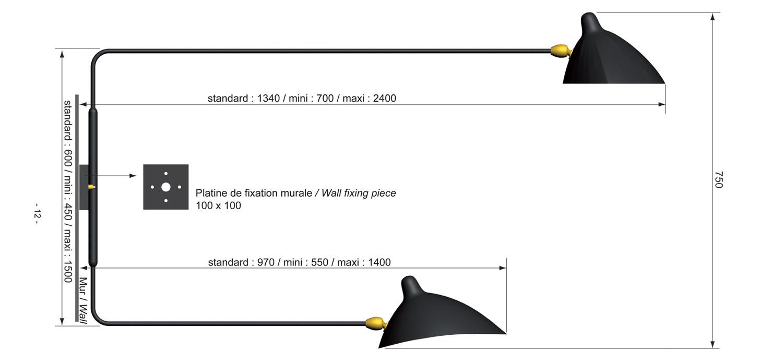 Applique 2 Bras applique 2 bras - lvc designlvc design